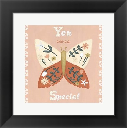 Framed Folk Butterfly II Print
