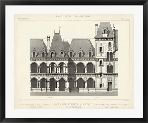 Framed French Facade I Print