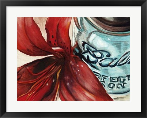 Framed Ball Jar Flower II Print
