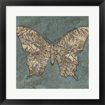 Framed Collage Butterfly II Print