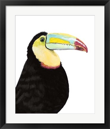 Framed Watercolor Toucan Print