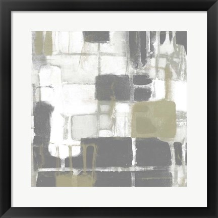 Framed Neutral Quadrants II Print