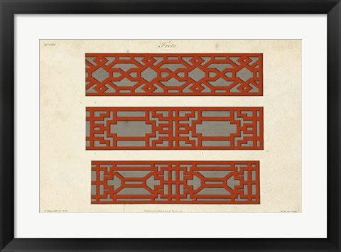 Framed Graphic Fretwork I Print