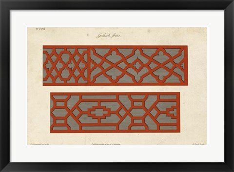 Framed Graphic Fretwork II Print