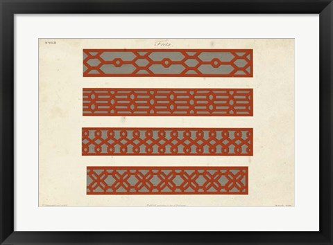 Framed Graphic Fretwork V Print