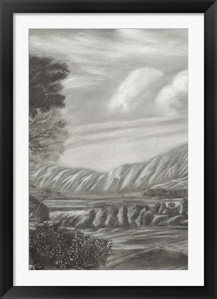 Framed Classical Landscape Triptych II Print