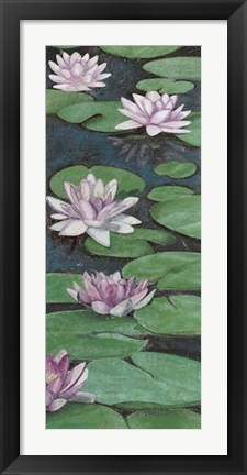 Framed Tranquil Lilies II Print