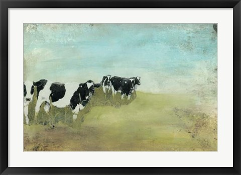 Framed Country Drive Cows II Print