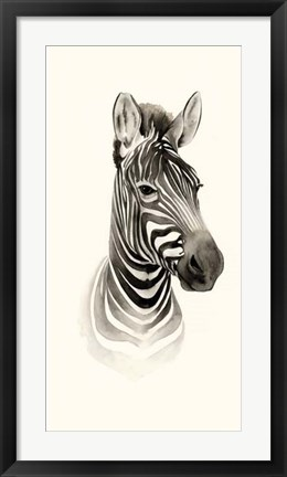 Framed Safari Portrait I Print