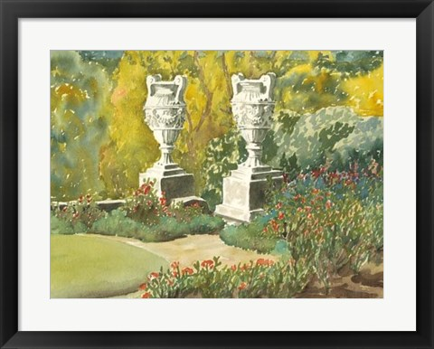 Framed Plein Air Garden V Print
