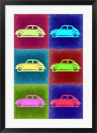 Framed VW Beetle Pop Art 2 Print