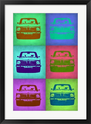 Framed BMW 2002 Pop Art 2 Print
