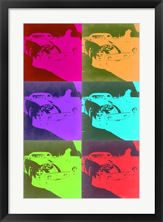 Framed Racing Ferrari Pop Art 3 Print