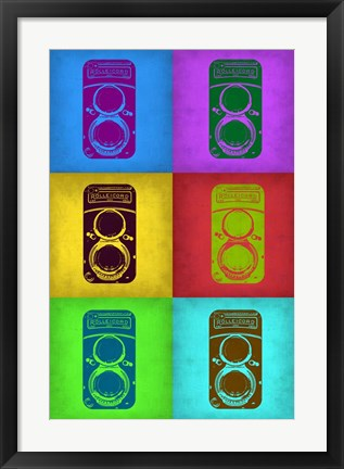 Framed Vintage Camera Pop Art 2 Print