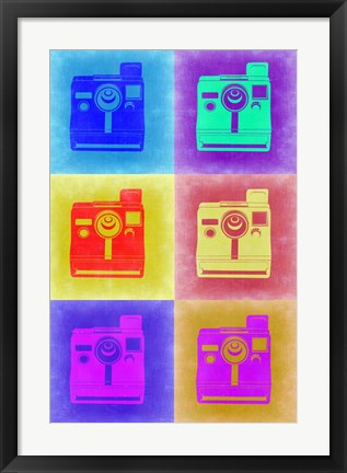 Framed Vintage Polaroid Camera Pop Art 2 Print