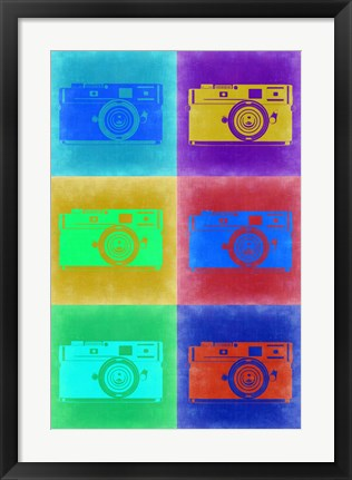 Framed Camera Pop Art 2 Print