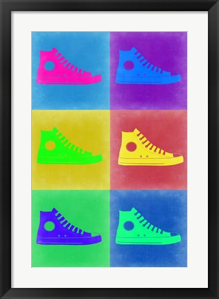 Framed Shoe Pop Art 2 Print