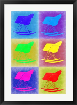 Framed Eames Rocking Chair Pop Art 2 Print