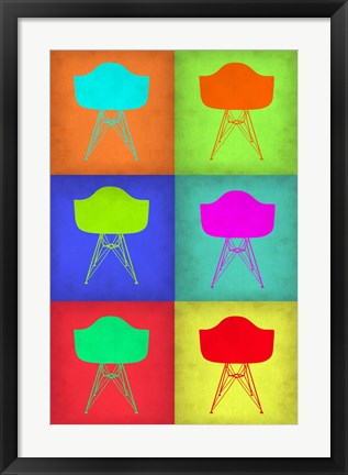 Framed Eames Chair Pop Art 2 Print