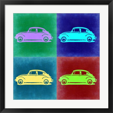 Framed VW Beetle Pop Art 3 Print