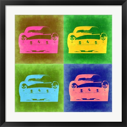 Framed Ferrari Pop Art 3 Print