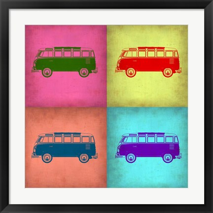 Framed VW Bus Pop Art 1 Print