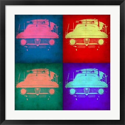 Framed Alfa Romeo Pop Art 1 Print