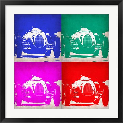 Framed Audi Autounion Pop Art 1 Print