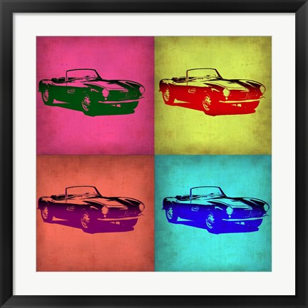 Framed BMW 507 Pop Art 1 Print