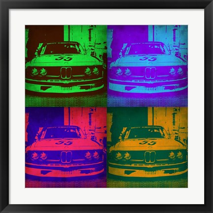 Framed BMW Front Pop Art 2 Print