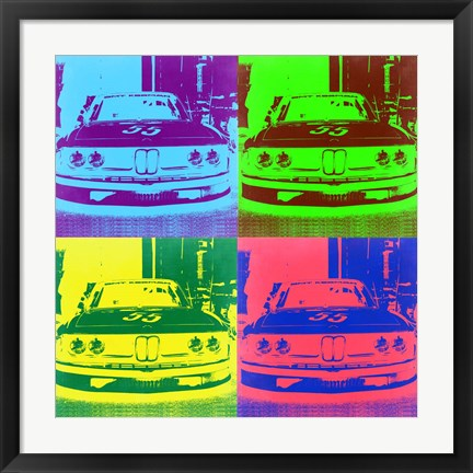 Framed BMW Front Pop Art 3 Print