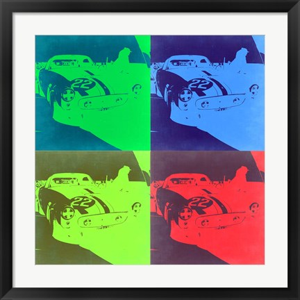 Framed Racing Ferrari Pop Art 2 Print