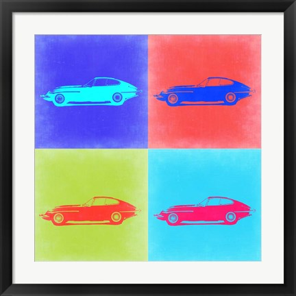 Framed Jaguar E Type Pop Art 2 Print