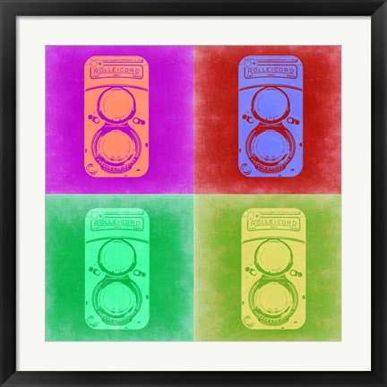 Framed Vintage Camera Pop Art 3 Print
