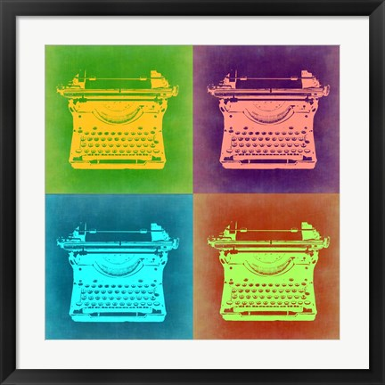 Framed Vintage Typewriter Pop Art 1 Print