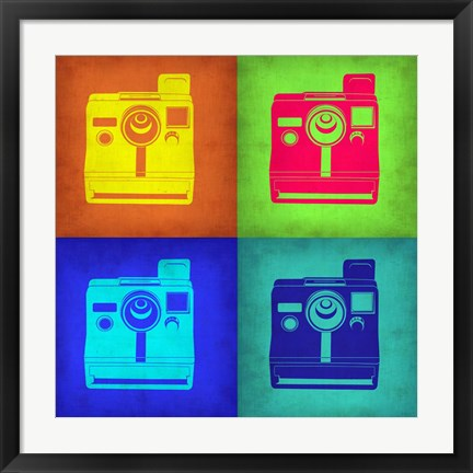 Framed Vintage Polaroid Camera Pop Art 1 Print