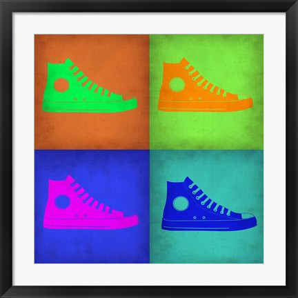 Framed Shoe Pop Art 1 Print