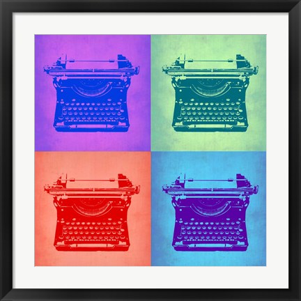 Framed Vintage Typewriter Pop Art 2 Print