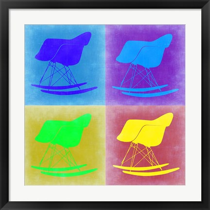Framed Eames Rocking Chair Pop Art 1 Print