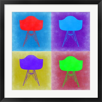 Framed Eames Chair Pop Art 3 Print