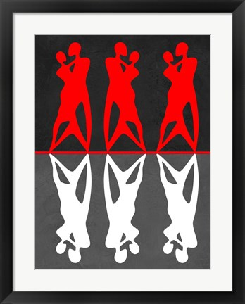 Framed Red and White Dance Print