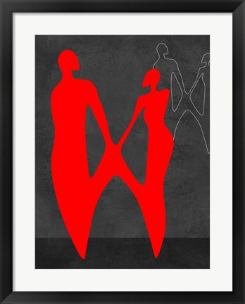 Framed Red Couple 2 Print