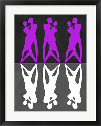 Framed Purple and White Dance Print