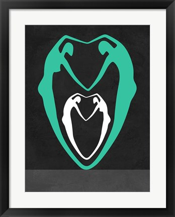 Framed Green heart Print