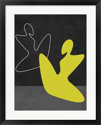 Framed Yellow Girl Print