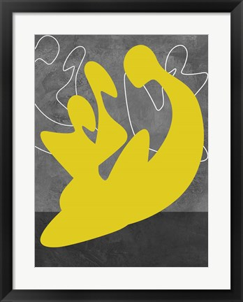 Framed Yellow Lovers Print