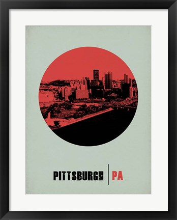 Framed Pittsburgh Circle 2 Print