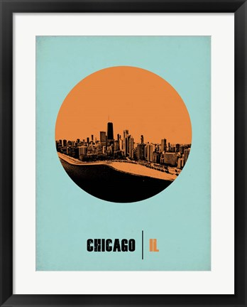 Framed Chicago Circle 1 Print