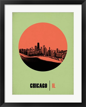Framed Chicago Circle 2 Print