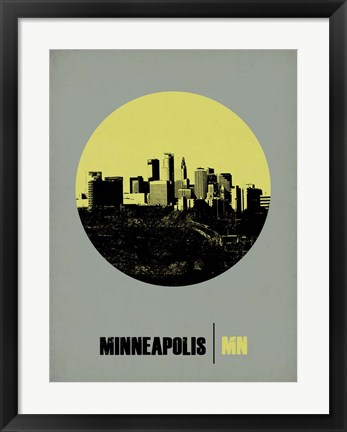 Framed Minneapolis Circle 2 Print